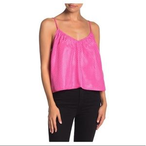 NSR Pink Cani Crop Top Lisa Doted Size Large